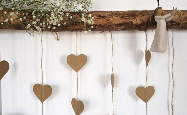 Srdíčková svatební dekorace